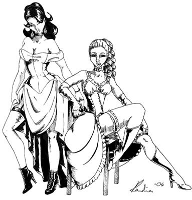 saloon gals