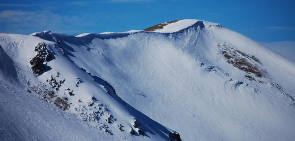 A cornice off Breckenridge's Imperial lift.