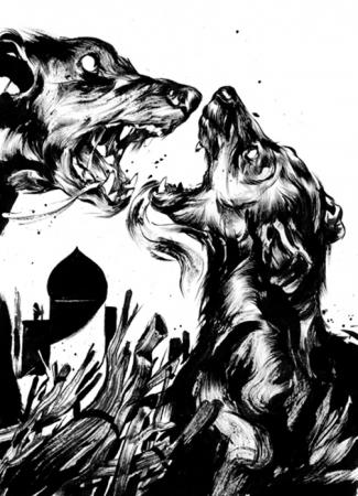 Dog Fight by Sam Weber
