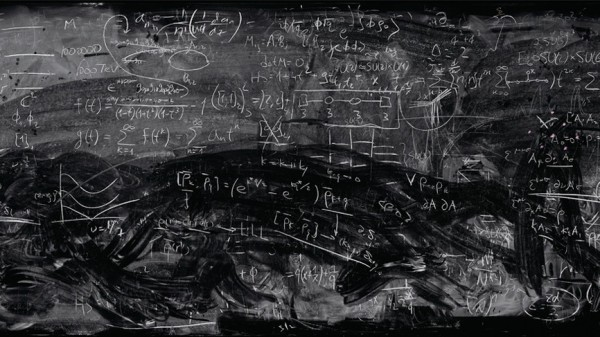 Quantum physics is unintelligble even on a blackboard.